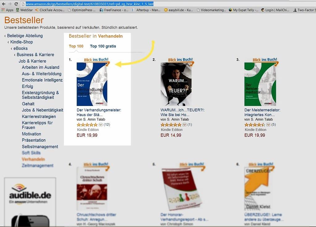 Amazon Bestsellerliste